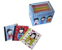 Corinne Demuynck - Les petits papiers japonais Kokeshis - 12 mini-carnets + 6 planches de stickers.
