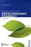 Corinne Gendron - Vous avez dit développement durable ?.