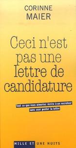Accentsonline.fr Ceci n'est pas une lettre de candidature - Tout ce que vous aimeriez écrire à un recruteur sans oser poster la lettre Image