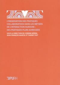 Corinne Mérini et Jean-François Marcel - L'observation des pratiques collaboratives dans les métiers de l'interaction humaine : des pratiques pluri-adressées.