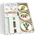 Corinne Oddo-Vallette - Petits tableaux de cactus à broder - Avec 3 tambours à broder, 3 échevettes de fil et 1 aiguille à broder.