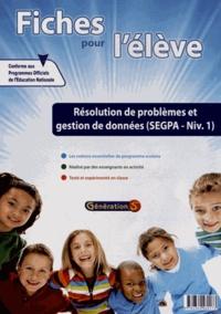 Cjtaboo.be Fiches pour l'élève : Résolution de problèmes et gestion de données SEGPA Niveau 1 Image