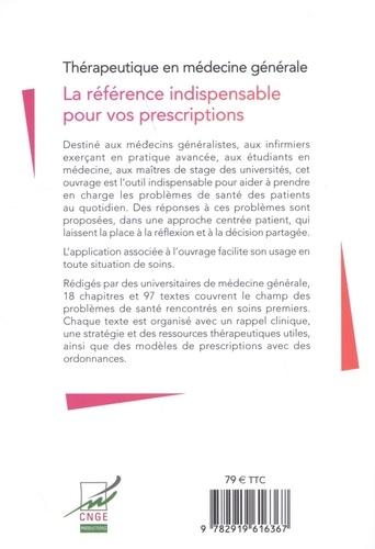 Thérapeutique en médecine générale 4e édition