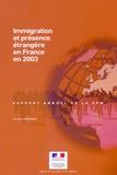 Corinne Regnard - immigration et présence étrangère en France en 2003.