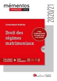 Corinne Renault-Brahinsky - Droit des régimes matrimoniaux.