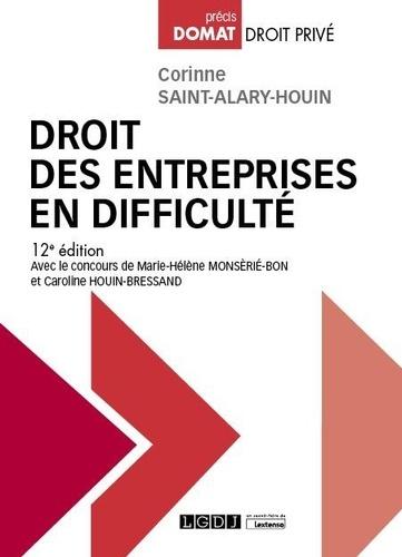 Droit des entreprises en difficulté 12e édition