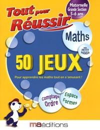 Corinne Tarcelin - Maths avec petit panda - 50 jeux Maternelle GS 5-6 ans.