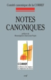 CORREF - Notes canoniques.