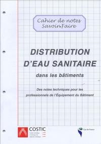 COSTIC - Distribution d'eau sanitaire dans les bâtiments.