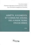 Cour des comptes - Arrêts, jugements et communications des juridictions financières (2016).