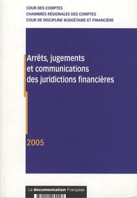 Deedr.fr Arrêts, jugements et communications des juridictions financières - 2005 Image
