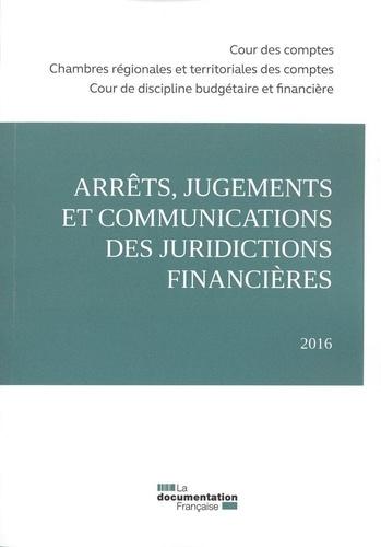 Cour des comptes - Arrêts, jugements et communications des juridictions financières.