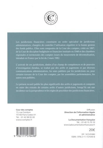 Arrêts, jugements et communications des juridictions financières  Edition 2018