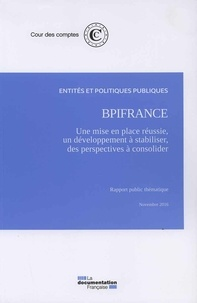 BpiFrance : une mise en place réussie, un développement à stabiliser, des perspectives financières à consolider -  Cour des comptes |
