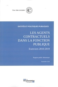 Cour des comptes - Les agents contractuels dans la fonction publique - Exercices 2010-2019.