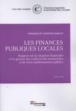 Cour des comptes - Les finances publiques locales - Octobre 2016, Rapport sur la situation financière et la gestion des collectivités territoriales et de leurs établissements.