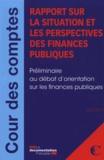 Cour des comptes - Rapport sur la situation et les perspectives des finances publiques.