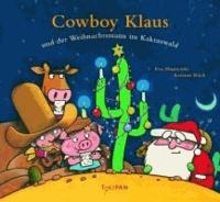 Cowboy Klaus und der Weihnachtsmann im Kaktuswald.