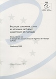 CPLRE - Politique culturelle locale et régionale en Europe : compétences et pratiques.
