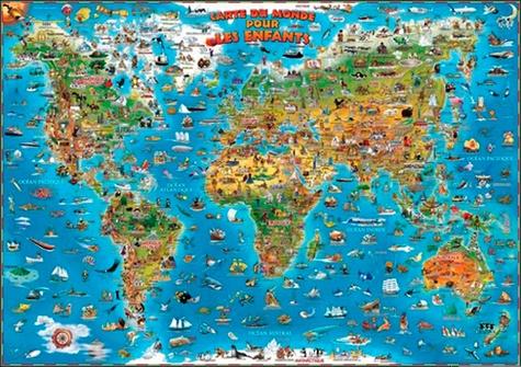 Carte Du Monde Plastifiee.Carte Du Monde Pour Enfants Plastifiee 137 Cm Craenen