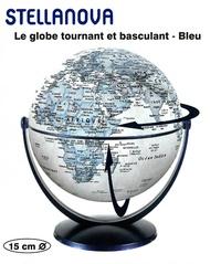 Craenen - Stellanova - Le globe tournant et basculant - Bleu - 15 cm.