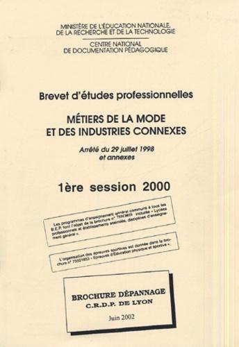 CRDP de Lyon - Metiers de la mode et des industries connexes BEP.