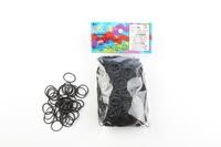 CREATIVE IMPORT - Rainbow Loom recharge élastiques noir
