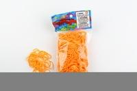 CREATIVE IMPORT - Rainbow Loom recharge élastiques orange fluo