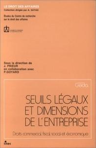 Goodtastepolice.fr Seuils légaux et dimensions de l'entreprise - Droits commercial, fiscal, social et économique Image