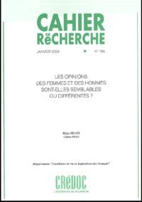 Régis Bigot et Claire Piau - Cahier de recherche N° 195 Janvier 2004 : Les opinions des femmes et des hommes sont-elles semblables ou différentes?.