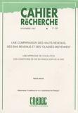 """Régis Bigot - Cahier de recherche N° 238, Novembre 200 : Une comparaison des hauts revenus, des bas revenus et des """"classes moyennes"""" - Une approche de l'évolution des conditions de vie en France depuis 25 ans."""