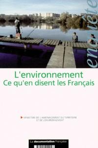 CREDOC - L'environnement - Ce que disent les français.