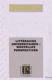 Isabelle Delcambre et Dominique Lahanier-Reuter - Pratiques N° 153-154, Juin 201 : Littéracies universitaires : nouvelles perspectives.