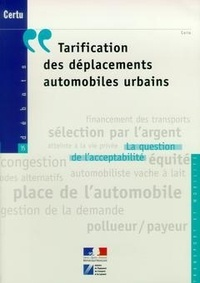 Deedr.fr Tarification des déplacements automobiles urbains. - La question de l'acceptabilité Image
