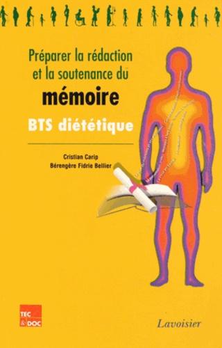 Cristian Carip et Bérengère Fidrie Bellier - Préparer la rédaction et la soutenance du mémoire.