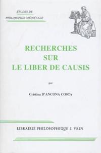 """Cristina D'ancona-Costa - Recherches sur le """"Liber de causis""""."""