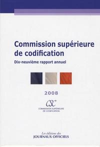 Deedr.fr Commission supérieure de codification - Dix-neuvième apport annuel 2008 Image