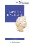 CSM - Conseil supérieur de la magistrature - Rapport d'activité 2002-2003.