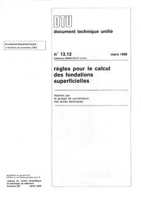 Blackclover.fr DTU 13.12 Règles pour le calcul des fondations superficielles Image