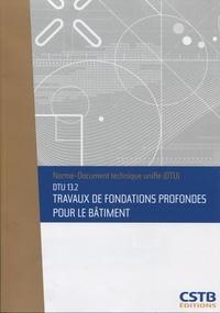 Feriasdhiver.fr Fondations profondes pour le bâtiment DTU 13.2 Image