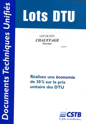 CSTB - Lot de DTU Chauffage électrique.