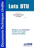 CSTB - Lot de DTU Construction en bois.