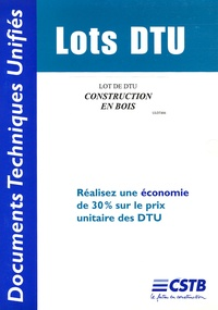 CSTB - Lot de DTU Construction en bois.