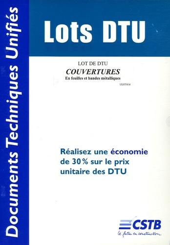 CSTB - Lot de DTU Couvertures en feuilles et bandes métalliques.