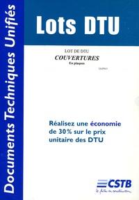 CSTB - Lot de DTU Couvertures en plaques.