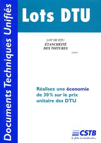 CSTB - Lot de DTU Etanchéité des toitures.