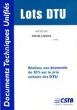 CSTB - Lot de DTU Fondations.
