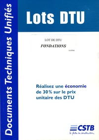 CSTB - Lot de DTU Fondations.