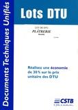 CSTB - Lot de DTU Plâtrerie Humide.