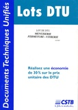 CSTB - Lot DTU Menuiserie Fermeture-vitrerie.